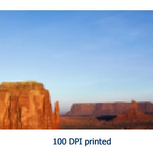 image resolution printed