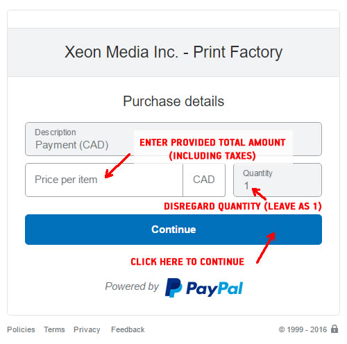 Print Factory - Pay Online