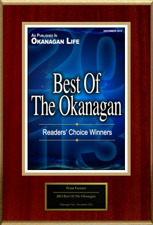 2013 Best Printing Place in Okanagan