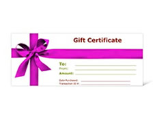 Gift certificates printing Penticton | Print Factory