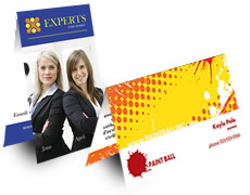 Foldover Business Cards Printing | Print Factory
